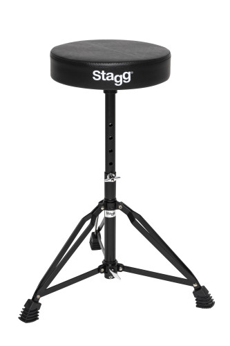 Drum throne, double braced, black finish