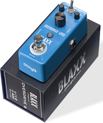 BLAXX 2-mode Overdrive pedal for electric guitar