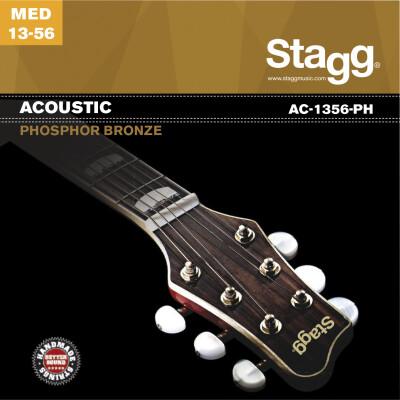 Jeu de cordes pour guitare acoustique, phosphor-bronze, medium