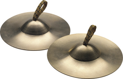 Pair of brass finger cymbals
