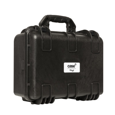 Water- and dustproof universal transport case with pick and pluck foam