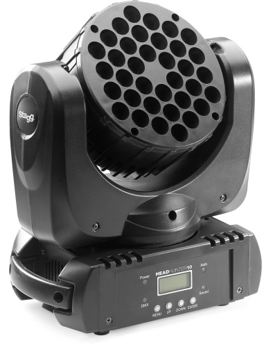 HeadHunter 10, LED Beam Moving Head with 36 x 3W (3 in 1, RGB) CREE USA LEDs