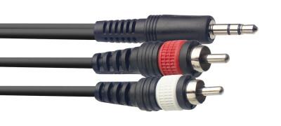 Y cable, mini jack/RCA (m/m), 6 m (20')