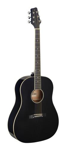 Slope Shoulder dreadnought guitar, black, left-handed model