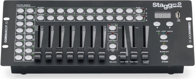 16-fixture DMX light controller with 14 channels per fixture