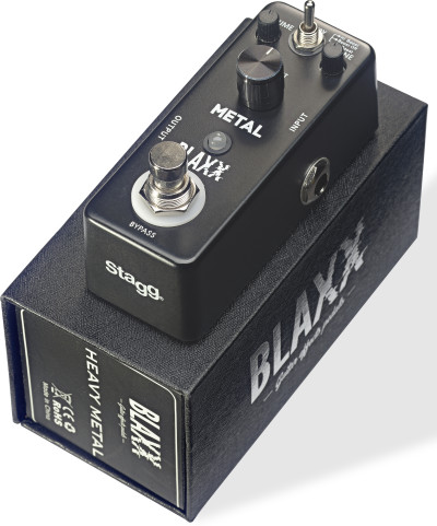 BLAXX 3-mode Metal pedal for electric guitar