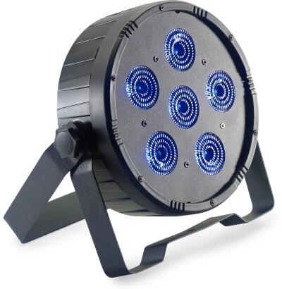Projecteur plat ECOPAR 6 équipé de 6 LED RGBWAUV (6 en 1) de 12 watts