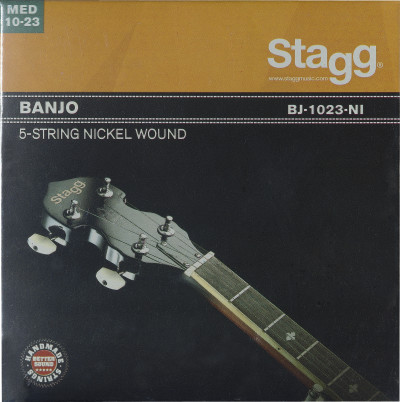 Set of nickel strings for 5-string banjo