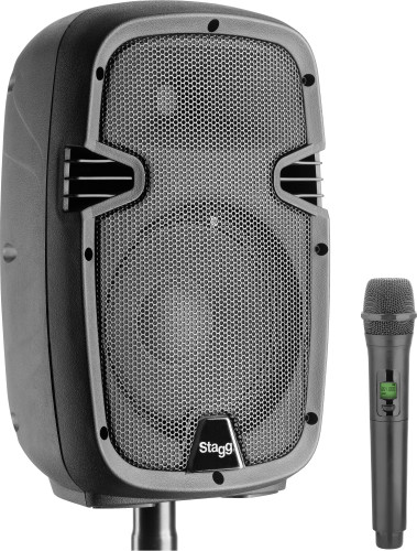 "8"" aktiver 2-weg LS, analog, Class A/B, mit Bluetooth, 1 UHF-Mikrofon, 60 Watt Peak-Leistung"