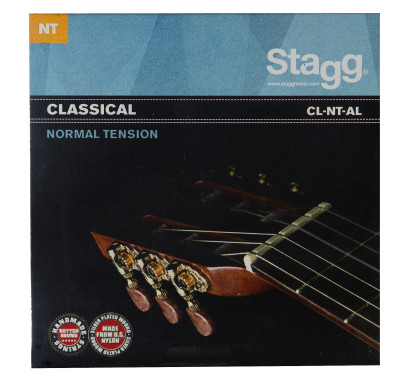 Nylon/zilver-omwonden snarenset voor klassieke gitaar