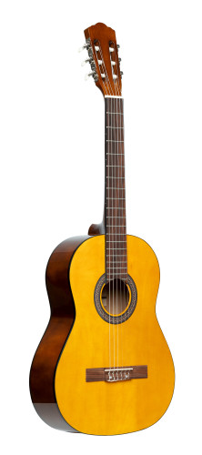 3/4 classical guitar with linden top, natural colour