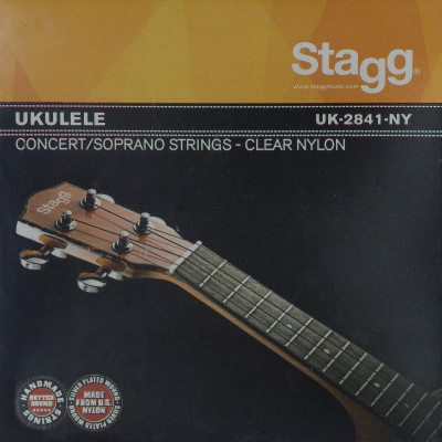 Set of clear nylon strings for ukulele