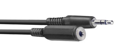 Audio cable, mini jack/mini jack (m/f), 3 m (10')