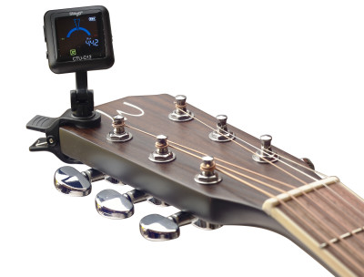 Black automatic chromatic clip-on tuner, rechargeable