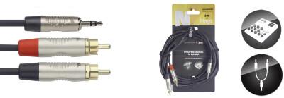 U cable, mini jack/RCA (m/m), 3 m (10'), N-Series