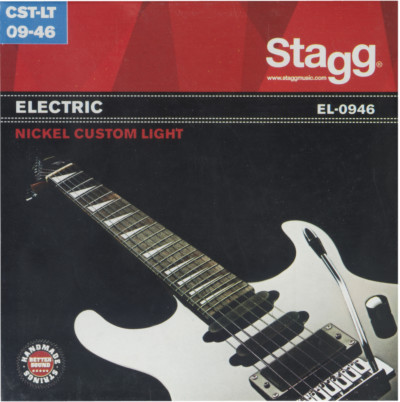 Vernickelt Stahl Saitensatz für E-Gitarre