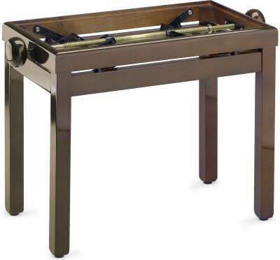 Hochglanz, Klavierbank, Farbe Walnuss, ohne Sitzfläche