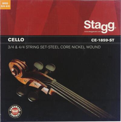 Jeu de cordes pour violoncelle 4/4 et 3/4, acier filé nickelé