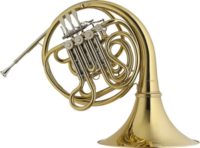 F/Bb Double Horn, 4 rotary valves, body in brass