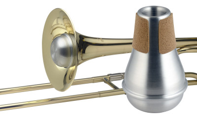 Compact practice mute for trombone