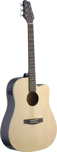 Electro-acoustic Dreadnought guitar with Linden top &