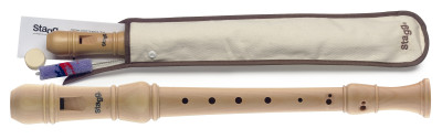Soprano recorder, German fingering, Maple wood