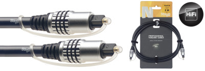 N-series Toslink to Toslink 2-metre audio cable