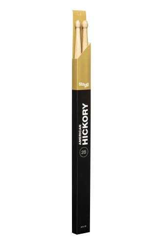 Pair of Hickory Sticks, V series/ 2B - Wooden Tip