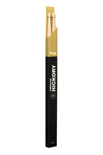 Pair of Hickory Sticks, V series/ 2B - Wooden Tip