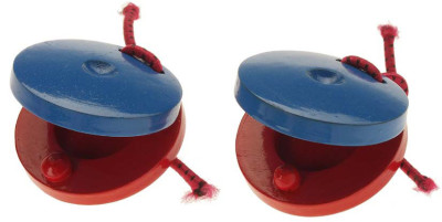 Pair of plastic castanets