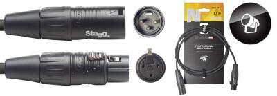 DMX cable, XLR/XLR (m/f) (3 pins), 1.5 m (5'), N-series
