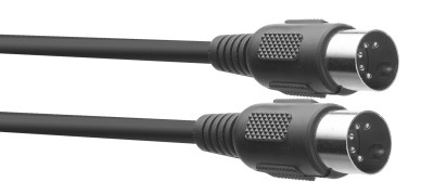 MIDI cable, DIN/DIN (m/m), 2 m (6'), plastic connectors