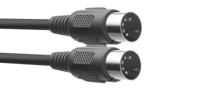 MIDI-Kabel, DIN/DIN (m/m), 2 m, Kunststoff-Anschlüsse