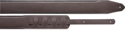 Courroie rembourrée en cuir brun/brun foncé - Standard