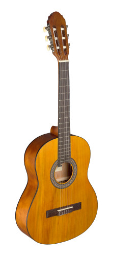 3/4 natural-coloured classical guitar with linden top