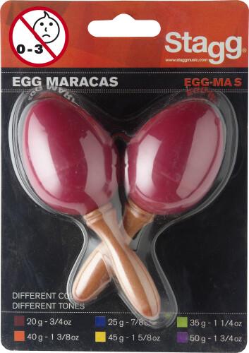 Pair of plastic egg maracas
