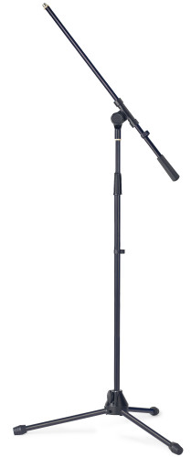 Microphone boom stand w/folding legs, heavy model