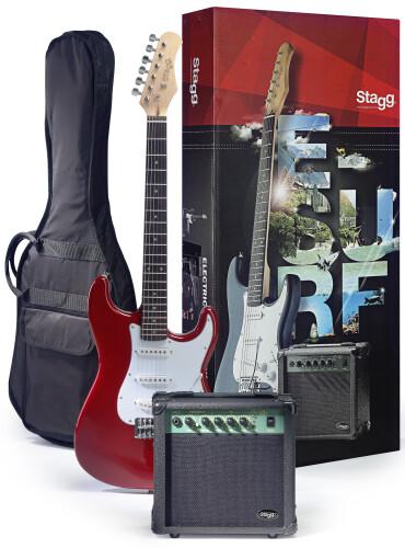 """Pack """"Surfstar"""" guitare électrique + ampli d'entrainement"""