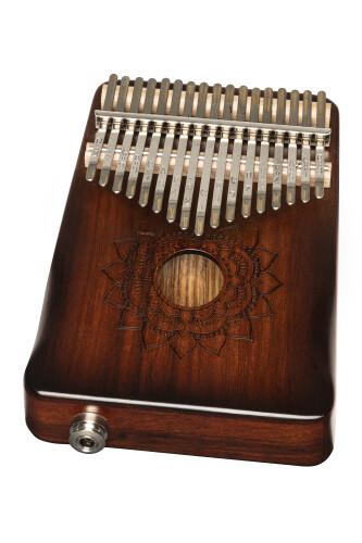 Professionele elektro-akoestische kalimba, zeventientonig