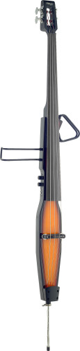 3/4 electric double bass with gigbag, violinburst