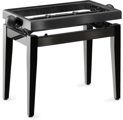 Highgloss black piano bench without top