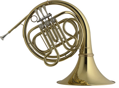 F/Eb Horn, 3 rotary valves, body in brass
