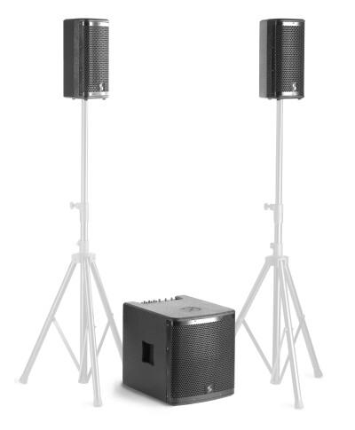 "Speaker set with 1 x 700-watt 12"" subwoofer and 2 x 350-watt 6.5"" satellites"