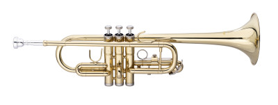 C Trumpet, ML-bore, Brass body material
