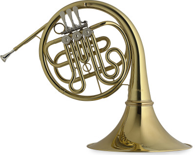 Bb Horn, 3 rotary valves, body in brass