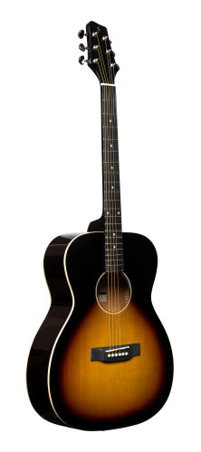 Auditorium guitar with basswood top, sunburst