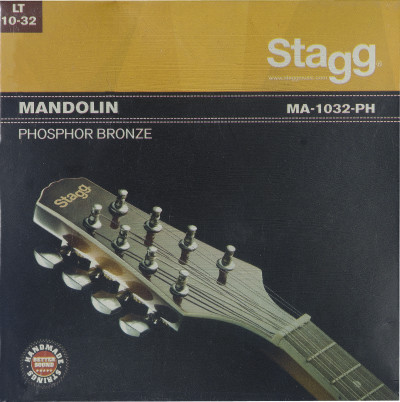 Phosphor bronze set of strings for mandolin