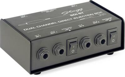 2-Channel, passive DI box with Mono/Stereo switch