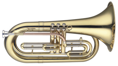 Bb Marching Baritone, 3 pistons in stainless steel