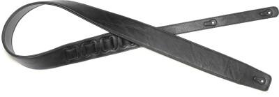 Black padded leatherette guitar strap, extra large
